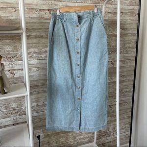 Vintage 90s Cabin Creek Chambray Skirt